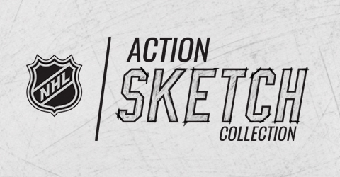 Designs for NHL Action Sketch Collection