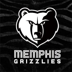 Memphis Grizzlies Black Animal Print