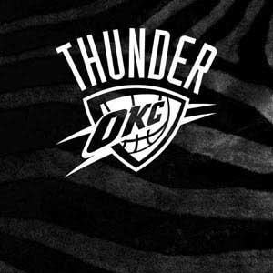 Oklahoma City Thunder Black Animal Print