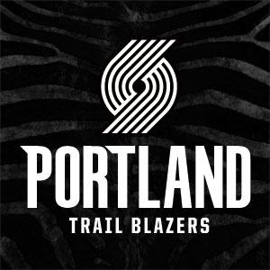 Portland Trailblazers Black Animal Print