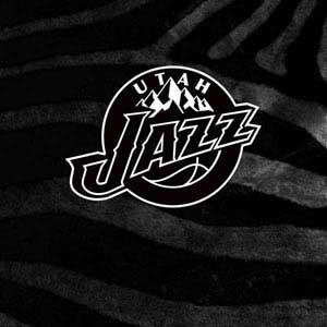 Utah Jazz Black Animal Print