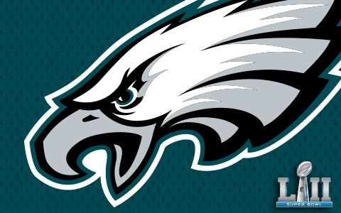 Designs for Philadelphia Eagles Super Bowl LII Championship Designs