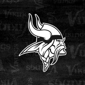 Minnesota Vikings Black & White