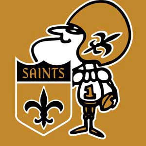 New Orleans Saints Retro Logo
