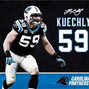 Luke Kuechly Action Shot Carolina Panthers