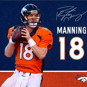 Peyton Manning Action Shot Denver Broncos