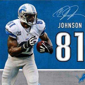 Calvin Johnson Action Shot Detroit Lions
