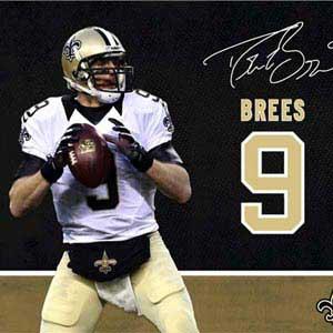 Drew Brees Action Shot New Orleans Saints