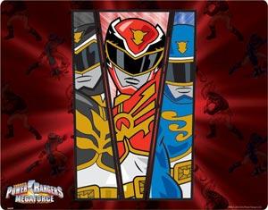 Mega Black, Red, and Blue Rangers