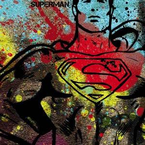 Superman Color Splatter