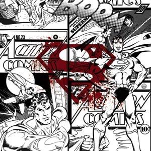 Superman Comic Logo in Red
