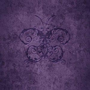 Purple Damask Butterfly