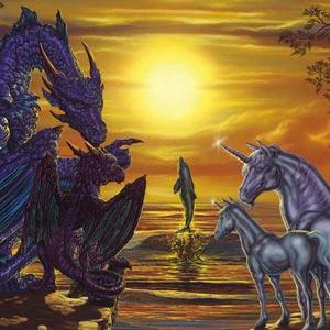 Dolphin, Unicorns, Dragons