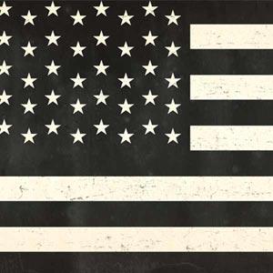 Black & White USA Flag