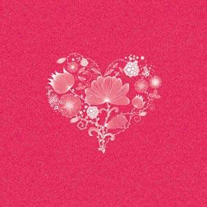 Flowery Pink Heart