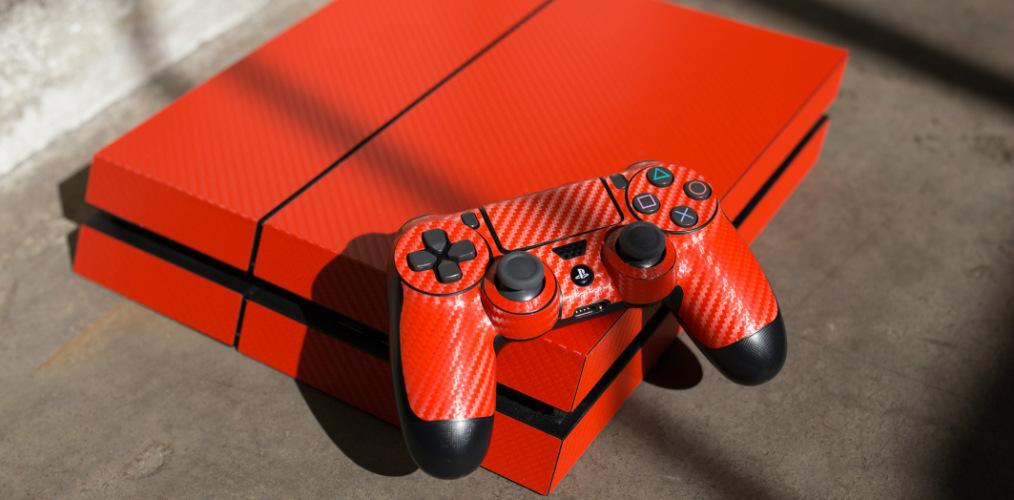 Carbon Fiber PlayStation Skins