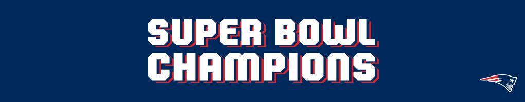 New England Patriots Super Bowl LIII Championship Designs