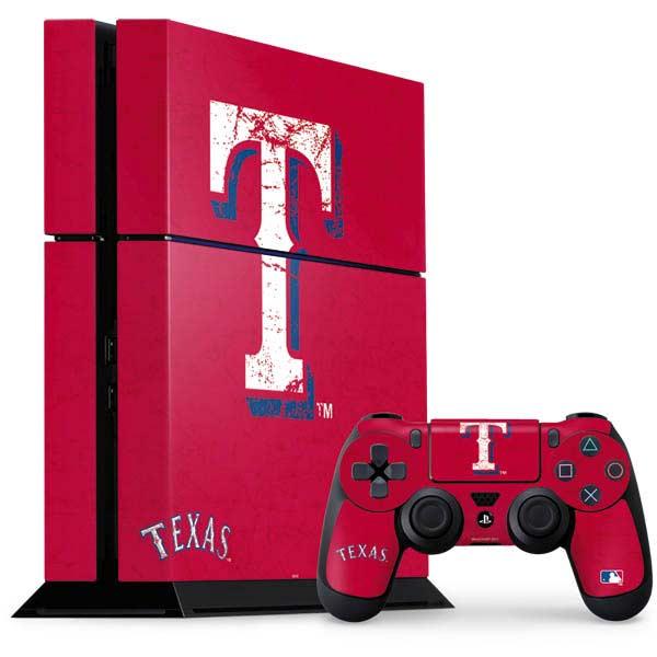 Texas Rangers PlayStation Gaming Skins