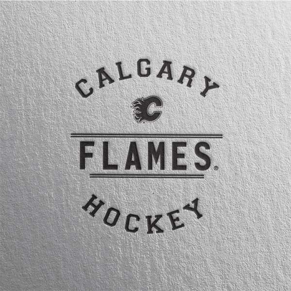 Calgary Flames Black Text Laptop Skins  3cbc19d55