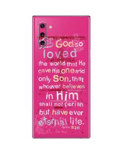 John 3:16 in Pink Galaxy Note 10 Skin