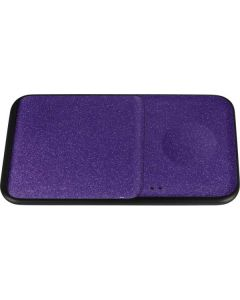 Diamond Purple Glitter Wireless Charger Duo Skin