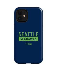 Seattle Seahawks Blue Performance Series iPhone 12 Mini Case