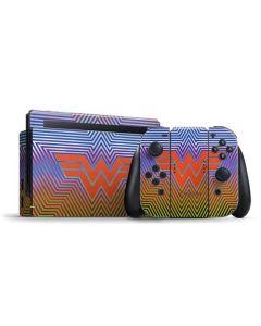 Wonder Woman Rainbow Chevron Nintendo Switch Bundle Skin