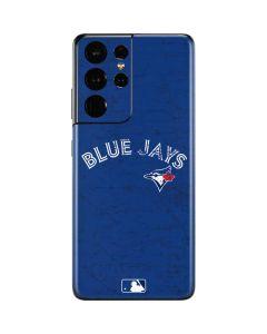 Toronto Blue Jays Solid Distressed Galaxy S21 Ultra 5G Skin