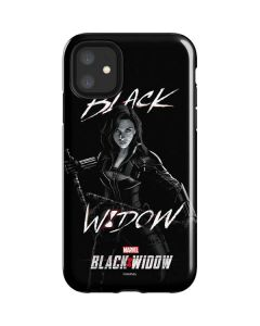 Black and White Black Widow iPhone 11 Impact Case