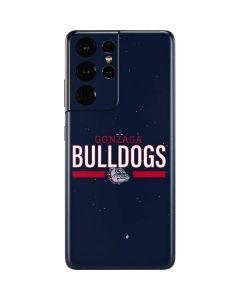 Gonzaga Bulldogs Stripe Galaxy S21 Ultra 5G Skin