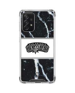 San Antonio Spurs Marble Galaxy A72 5G Clear Case