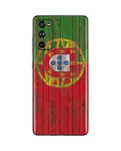 Portuguese Flag Dark Wood Galaxy S20 Fan Edition Skin