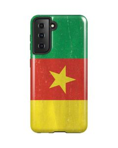 Cameroon Flag Distressed Galaxy S21 5G Case