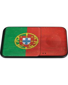 Portugal Flag Distressed Wireless Charger Duo Skin