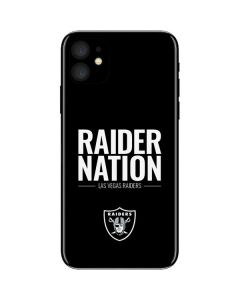 Las Vegas Raiders Team Motto iPhone 11 Skin