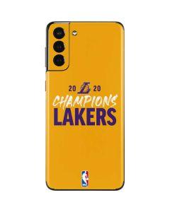 2020 Champions Lakers Galaxy S21 Plus 5G Skin