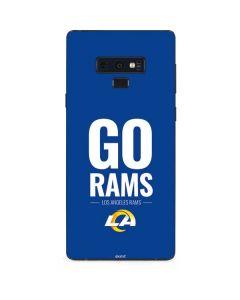 Los Angeles Rams Team Motto Galaxy Note 9 Skin