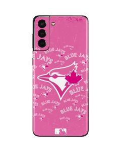 Toronto Blue Jays Pink Cap Logo Blast Galaxy S21 Plus 5G Skin