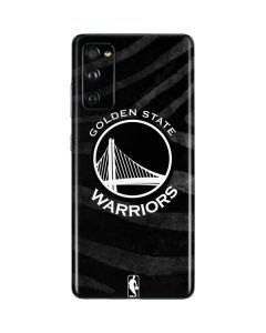 Golden State Warriors Black Animal Print Galaxy S20 Fan Edition Skin