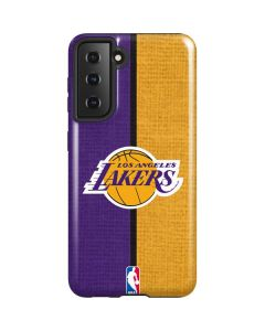 Los Angeles Lakers Canvas Galaxy S21 5G Case