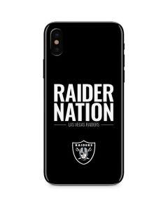 Las Vegas Raiders Team Motto iPhone XS Skin