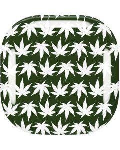 Marijuana Leaf White Pattern Galaxy Buds Live Skin