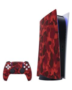 Red Street Camo PS5 Digital Edition Bundle Skin