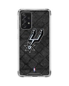 San Antonio Spurs Dark Rust Galaxy A72 5G Clear Case