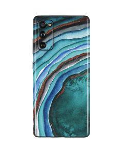 Turquoise Watercolor Geode Galaxy S20 Fan Edition Skin