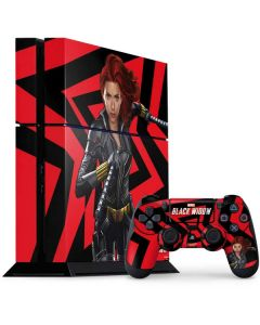 Black Widow Geometric PS4 Console and Controller Bundle Skin