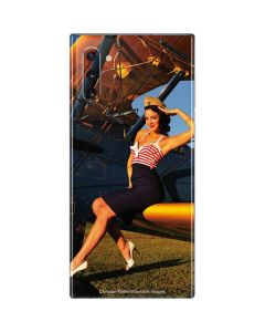 1940s Pin-Up On Stearman Biplane Galaxy Note 10 Skin