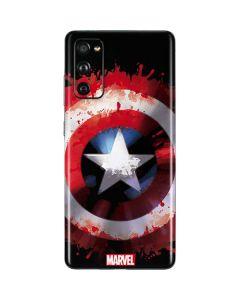 Captain America Shield Galaxy S20 Fan Edition Skin