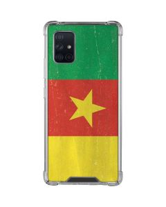 Cameroon Flag Distressed Galaxy A71 5G Clear Case
