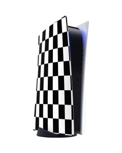 Black and White Checkered PS5 Digital Edition Console Skin